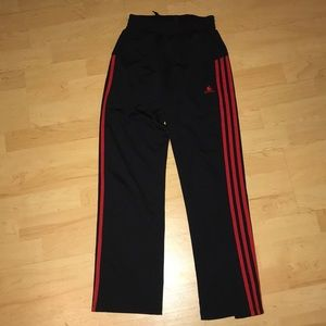 Black with red stripes adidas sweatpants